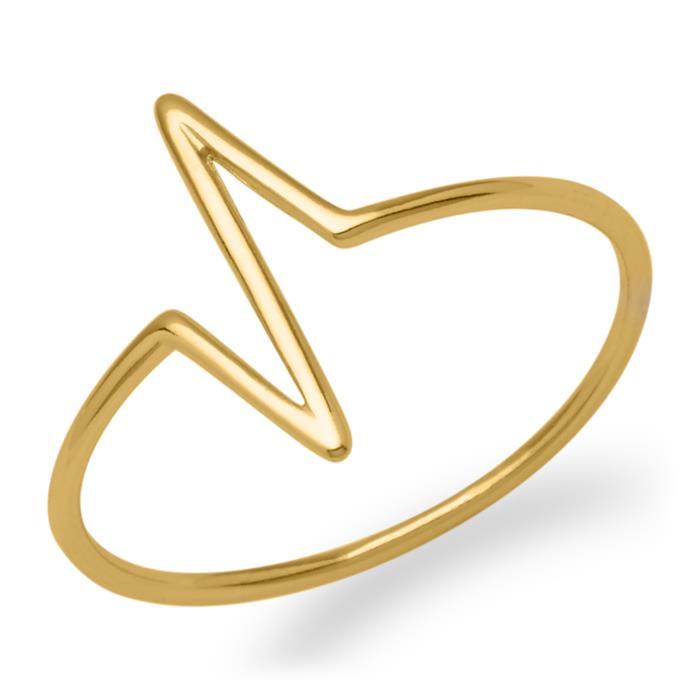 Ring gezackt 925er Silber vergoldet