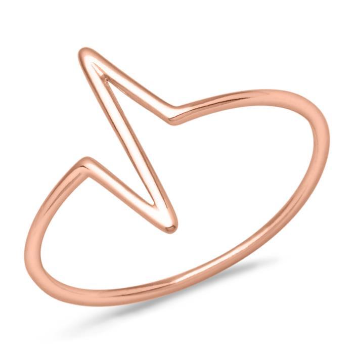 Ring gezackt 925er Silber rosévergoldet