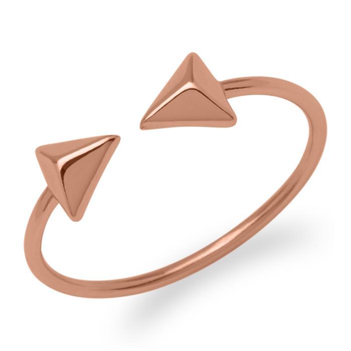 Ring Pyramiden Silber rosévergoldet