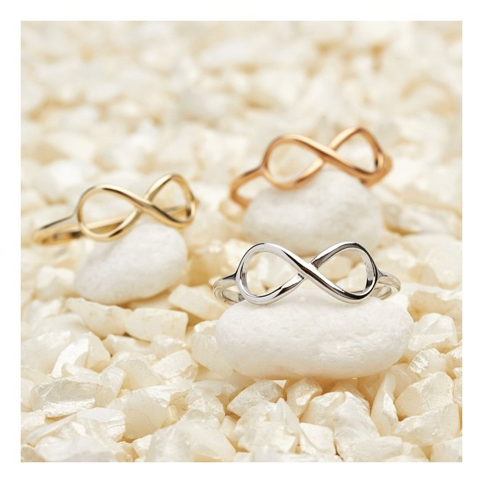Ring Unendlichkeitssymbol Silber rosévergoldet
