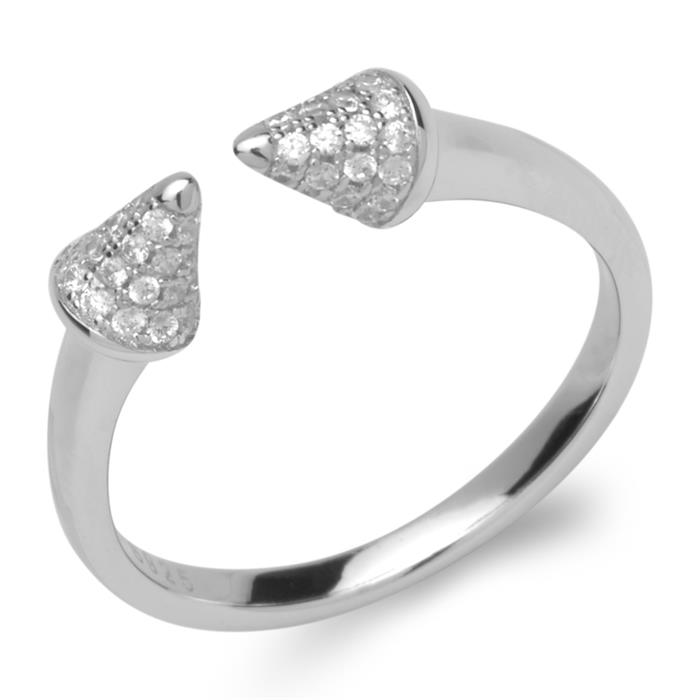 Ring kegelförmige Zierelemente 925er Sterling