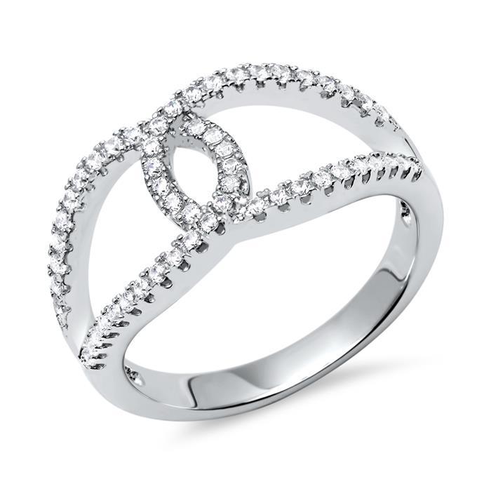Ring Silber 925er Zirkonia modisch