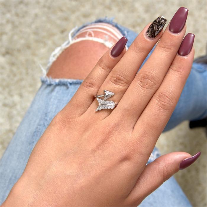 Ring 925er Silber Pfeil-Design Zirkonia