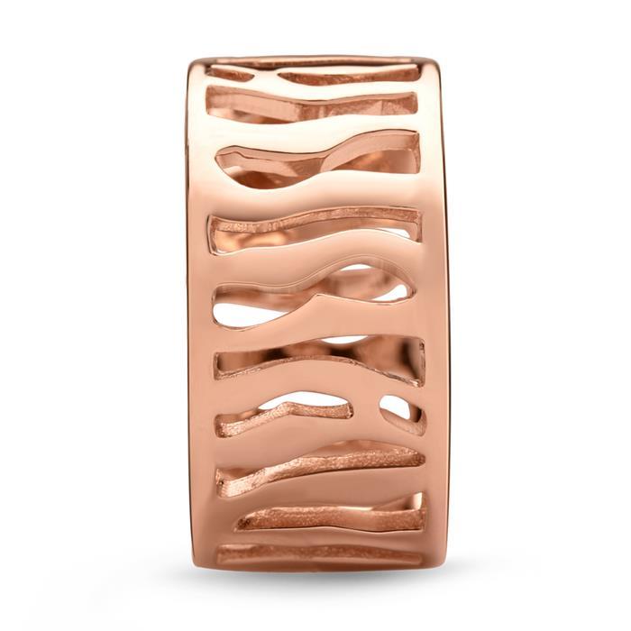 Moderner roségold Damenring mit Gravur