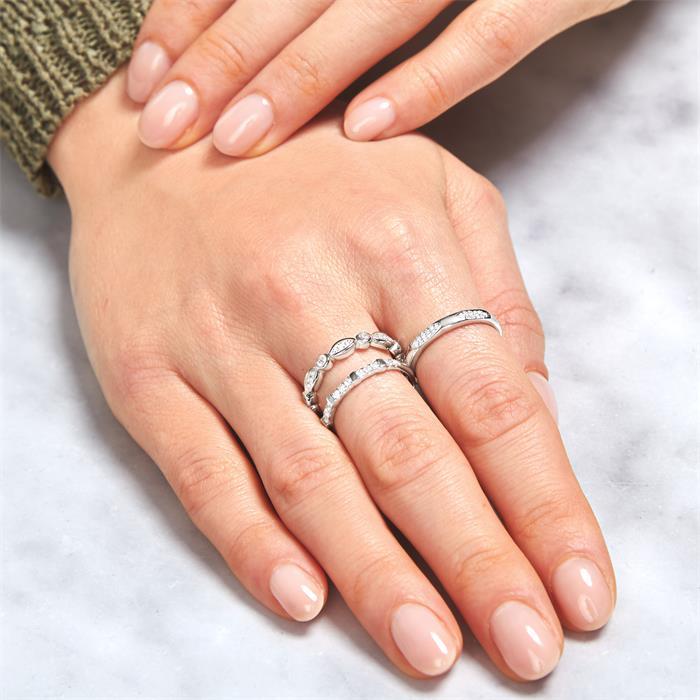 Eternity Ring aus 925er Silber mit Zirkonia