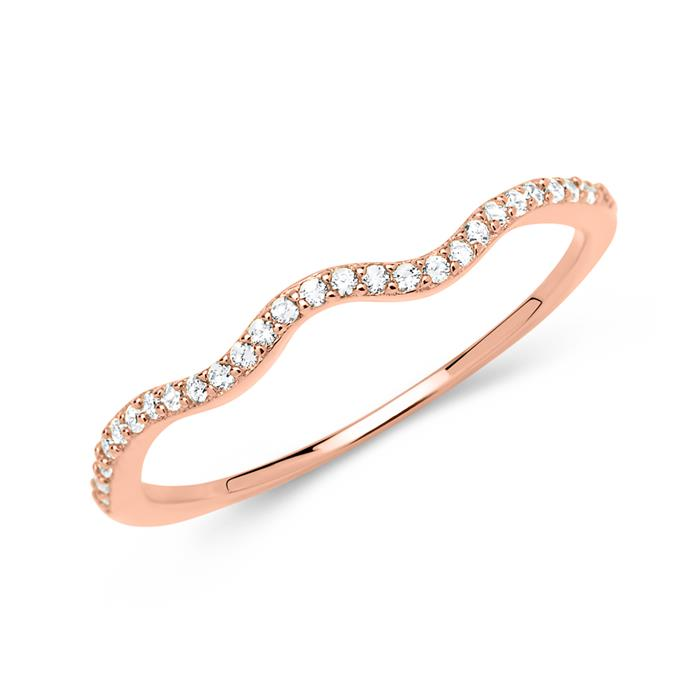 Filigraner roségold Ring 925er silber Zirkonia
