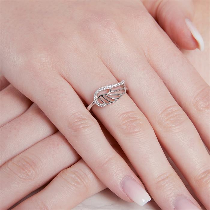 Ring Flügel 925er Silber Zirkonia