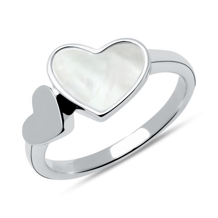 Ring Herzen aus 925er Silber, gravierbar
