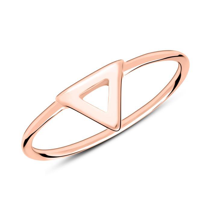 Ring Dreieck aus rosévergoldetem 925er Silber