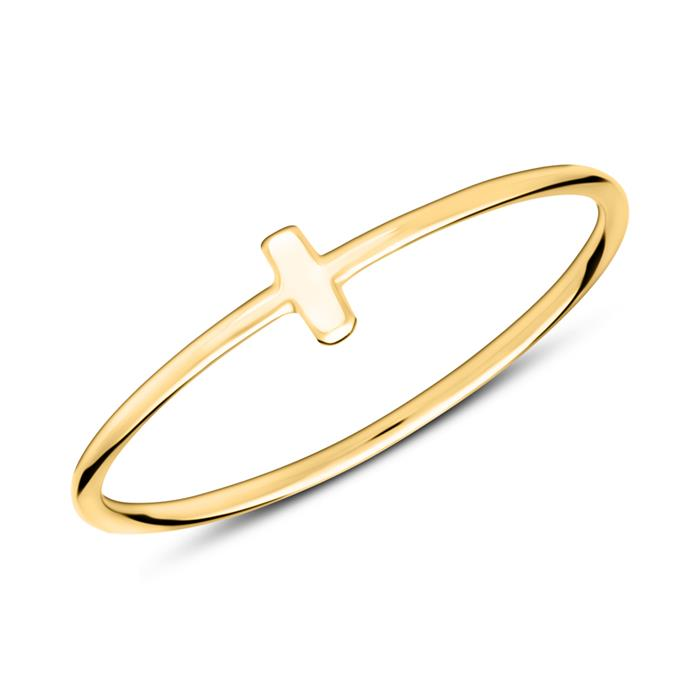 Ring im Stäbchendesign aus 925er Silber vergoldet