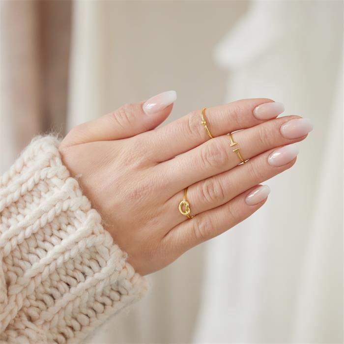 Ring Kugel aus vergoldetem Sterlingsilber
