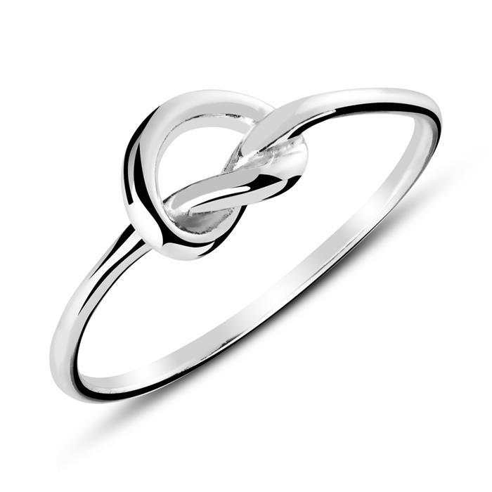 Ring Verschlungenes Herz aus Sterlingsilber