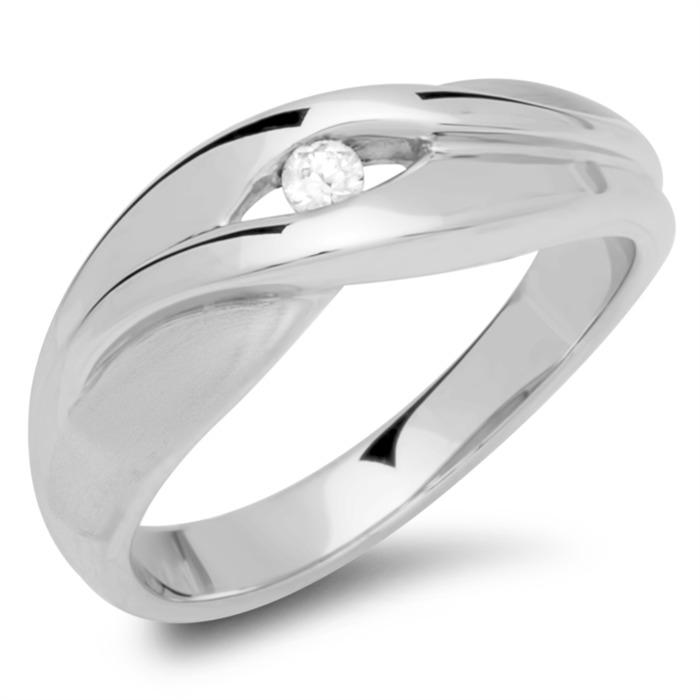 925 Schmuckset Silber Ohrringe Ring Kette