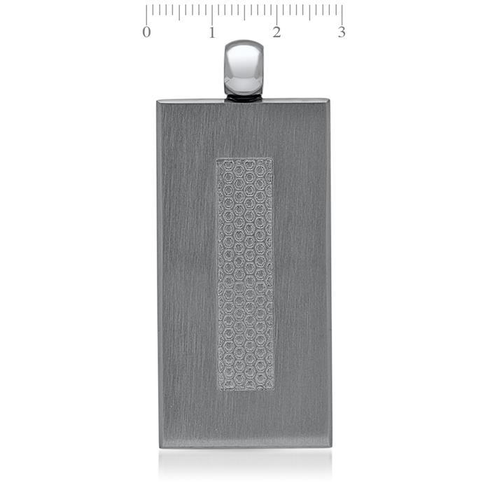 Kautschuk Halsband inklusive Anhänger Titan