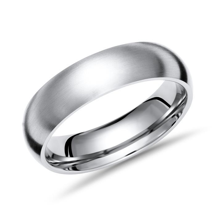 Moderner Ring Titan 6mm Breite matt