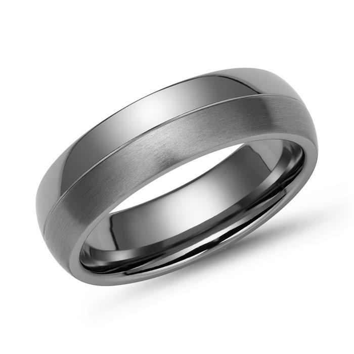 Ring Titan 6mm Breite matt & glänzend