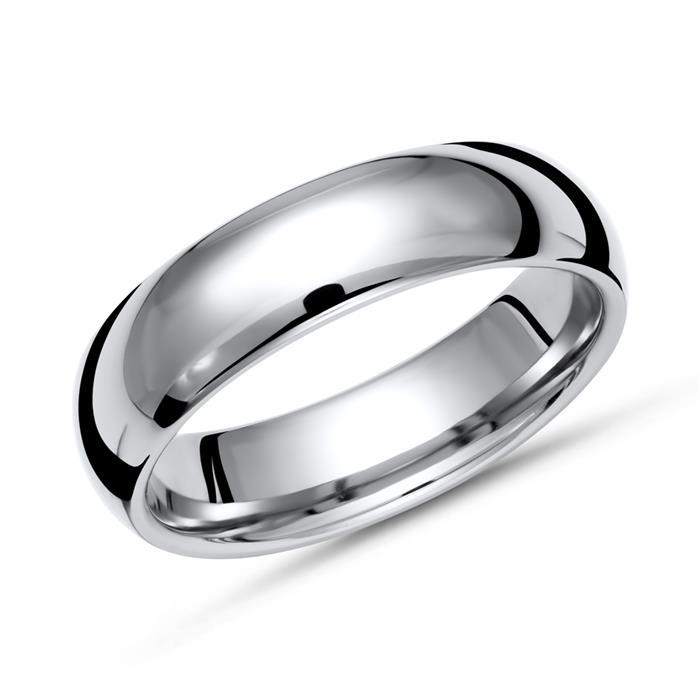 Glänzender Ring Titan in 6mm Breite