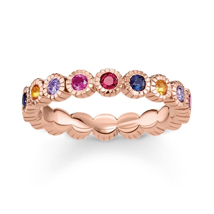 Ring Royalty aus 925er Silber rosévergoldet