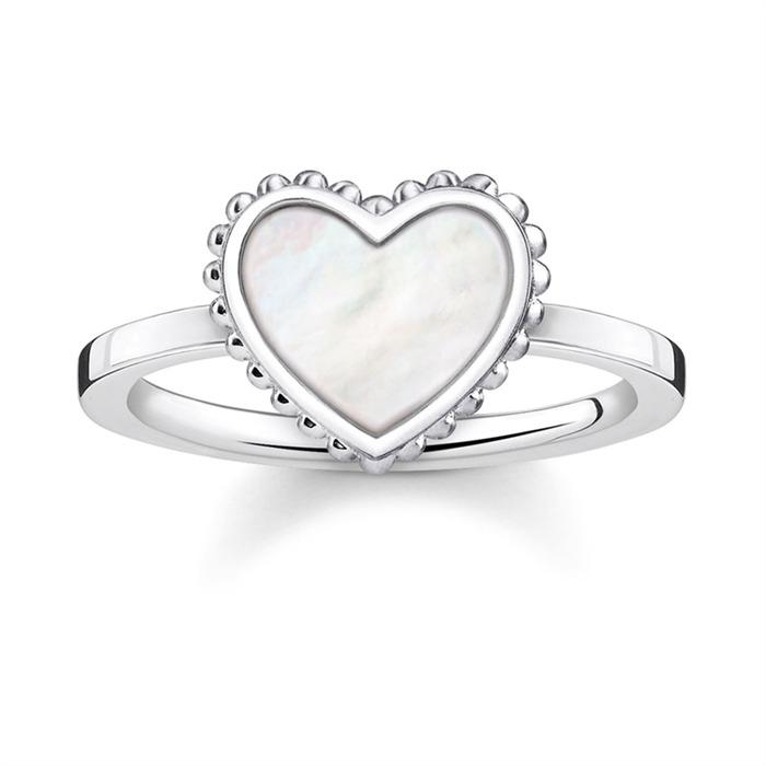 925er Silberring schimmerndes Herz