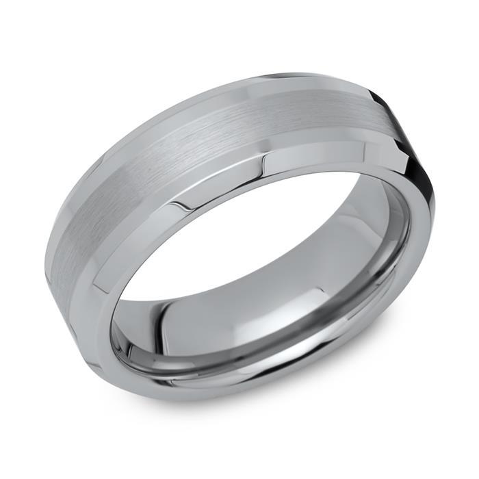 Wolfram Ring, teilpoliert, robust