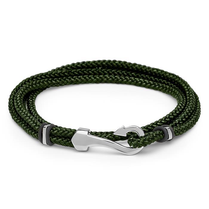 Armband Textil grün mit Hakenverschluss