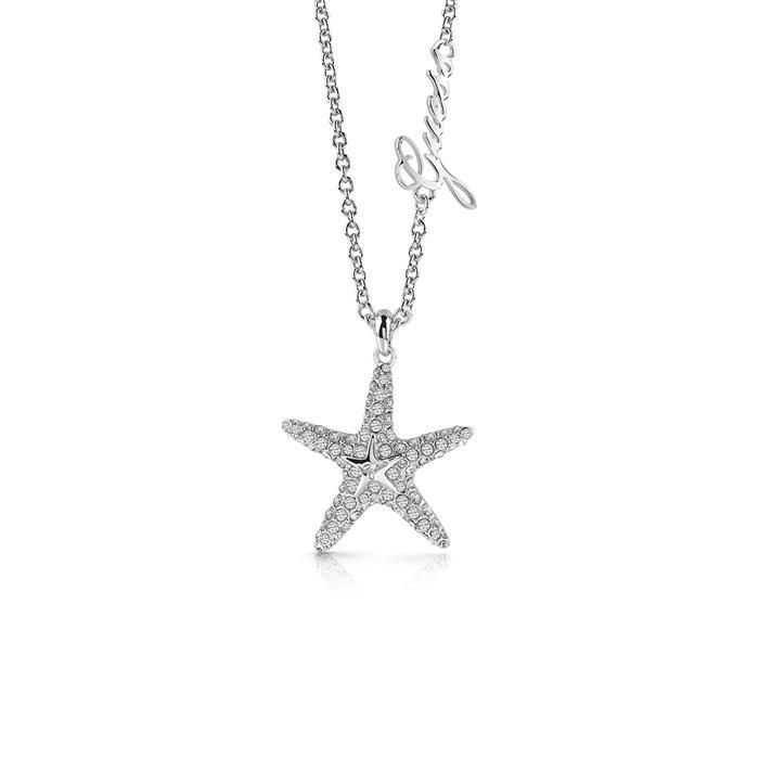 Damen Halskette Seestern Edelstahl Swarovski Kristalle