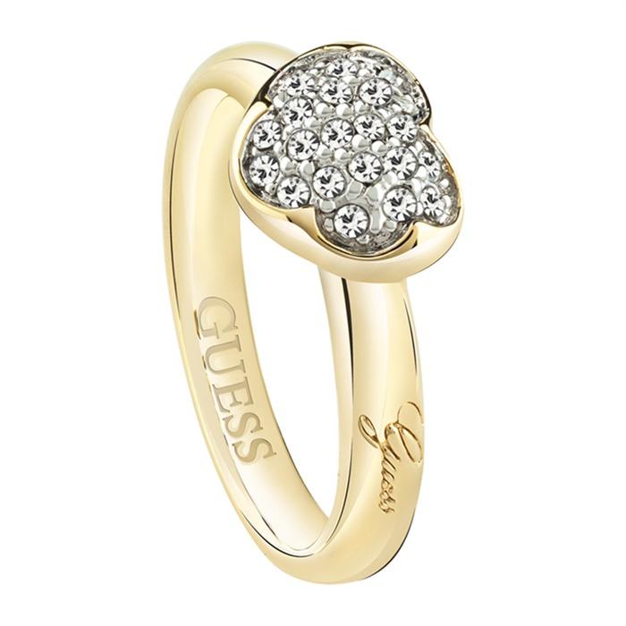 Vergoldeter Ring mit Herz Heartshelter