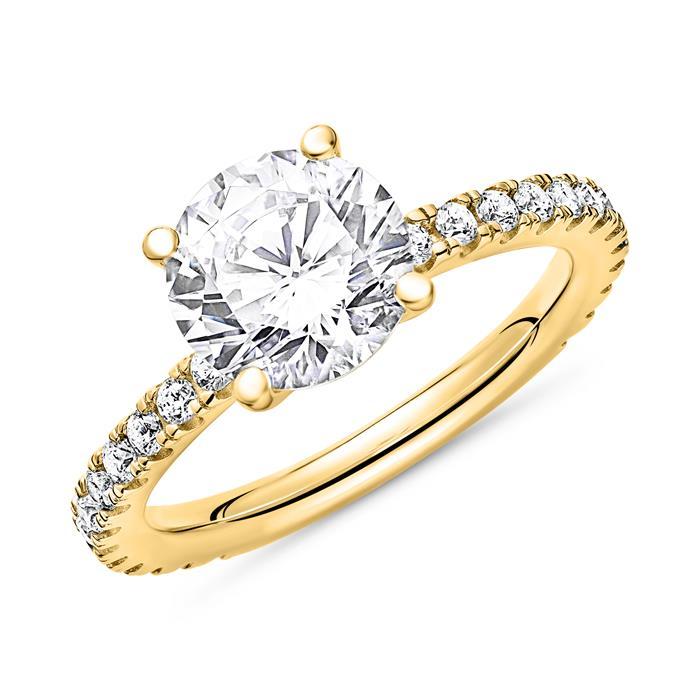 Verlobungsring aus vergoldetem 925er Silber Zirkonia