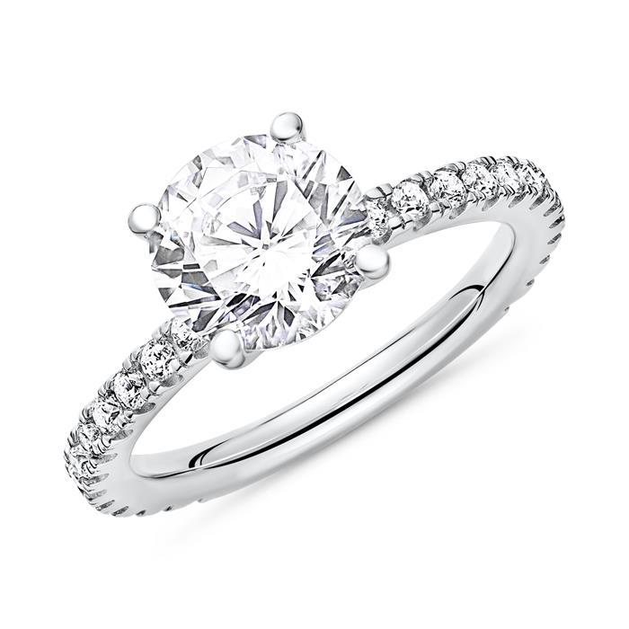 Verlobungsring Silber Zirkoniabesatz
