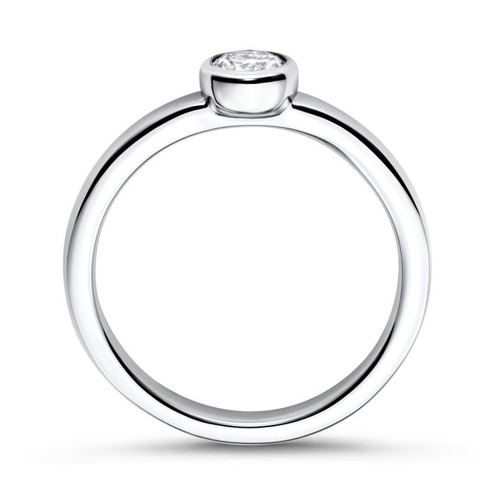 Verlobungsring 925 Silber Steinbesatz