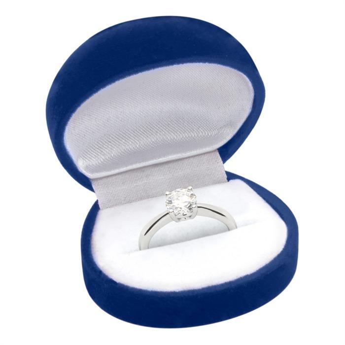 Verlobungsring Silber Steinbesatz