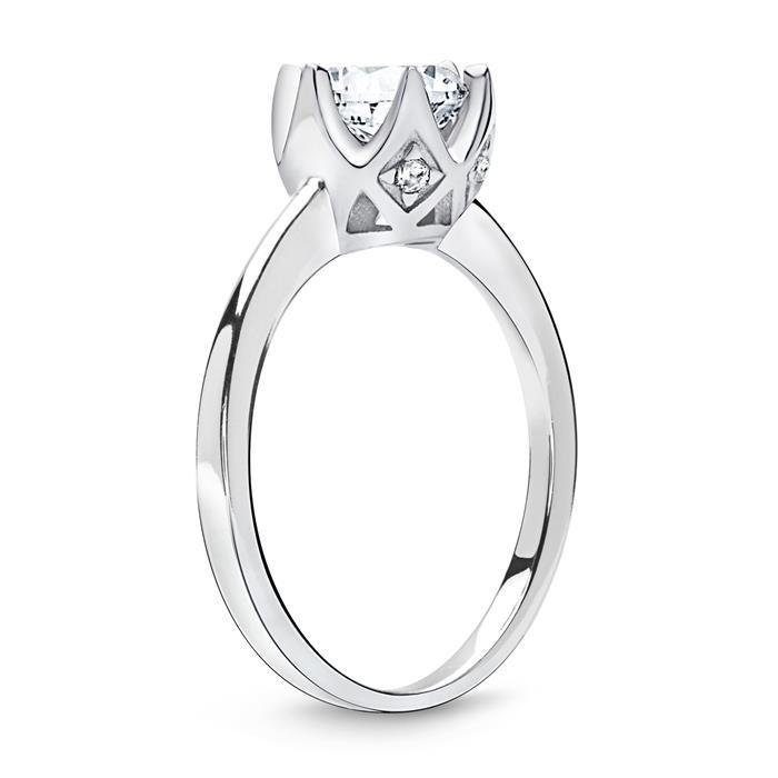 Verlobungsring 925 Silber Rauten Zirkonia