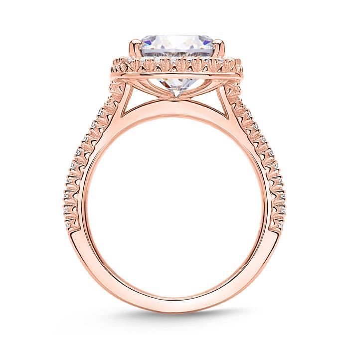 Verlobungsring aus 925er Silber, rosévergoldet Zirkonia