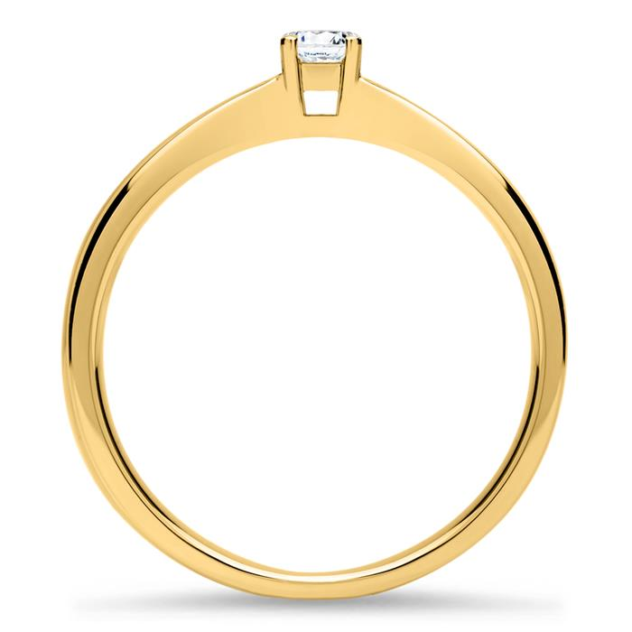 585er Gold Verlobungsring Diamant 0,15 ct., lab-grown