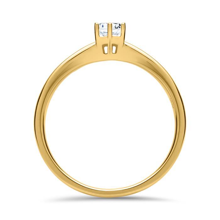 Verlobungsring 0,25 ct 585er Gold Diamant