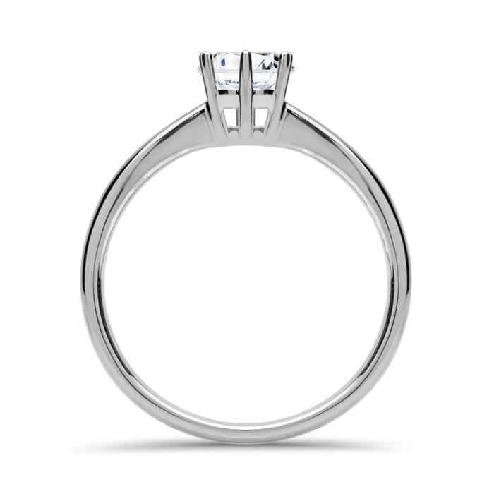 Verlobungsring Diamant 0,50 ct 585er Weißgold