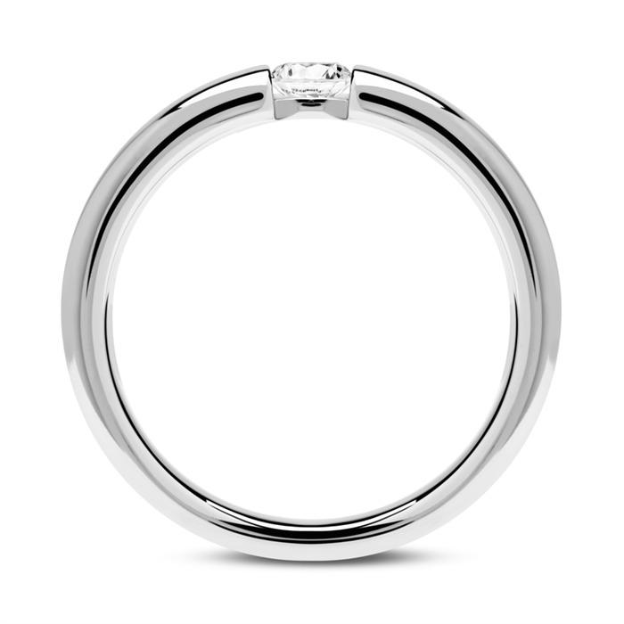 Verlobungsring aus 14K Weißgold mit Diamant 0,15 ct.