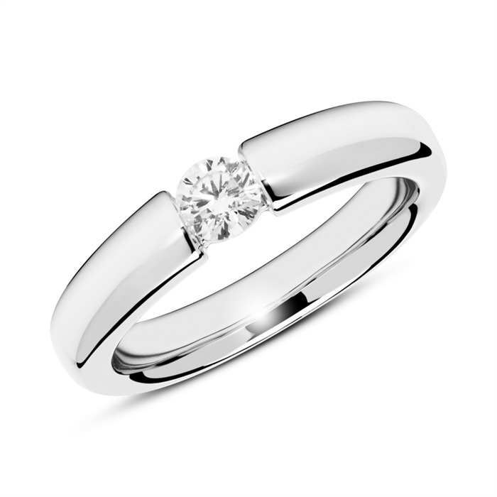 Unique 14k White Gold Engagement Ring With Diamond 0 25 Ct Vr0150sl