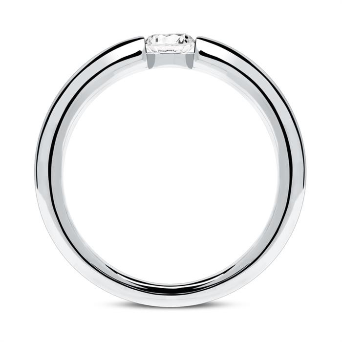 14K Weißgold Verlobungsring mit Diamant 0,25 ct.