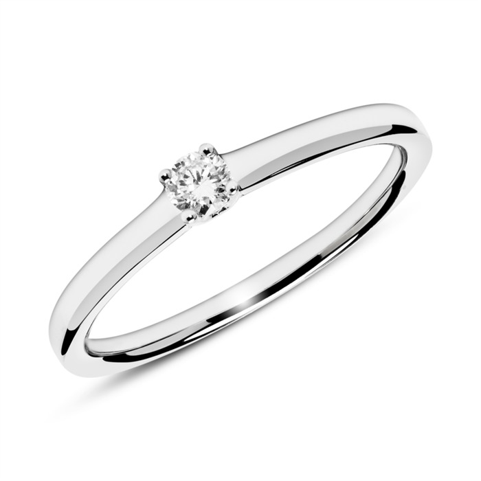 Unique 14k White Gold Engagement Ring With Diamond 0 10 Ct Vr0152sl