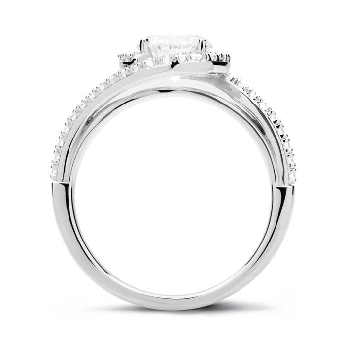 Verlobungsring 925er Silber mit Zirkonia