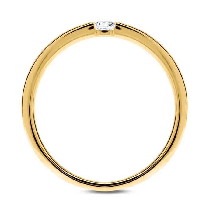 Verlobungsring aus 585er Gold mit Diamant 0,05 ct.
