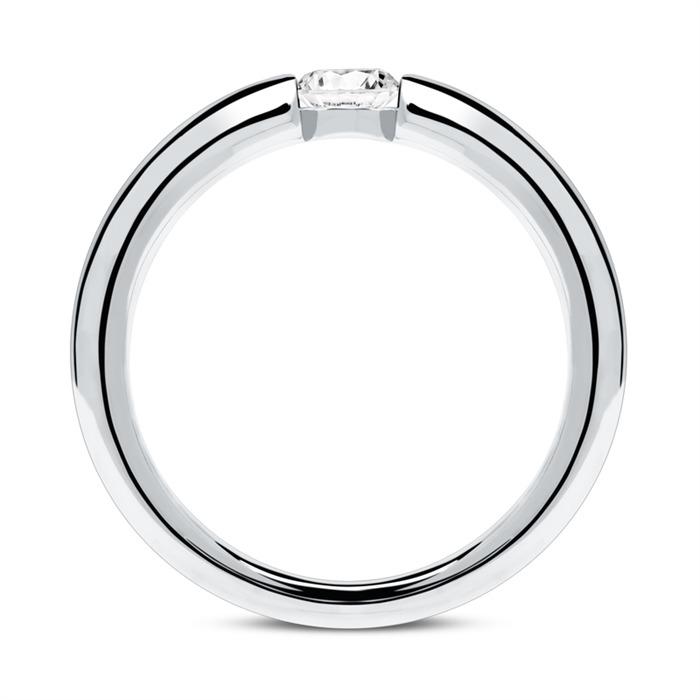 Ring aus 750er Weißgold mit Diamant 0,25 ct.
