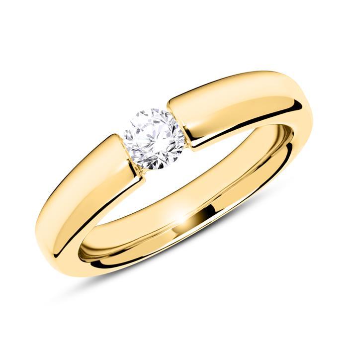 Unique 18k Gold Verlobungsring Mit Diamant 0 25 Ct Vr0184sl
