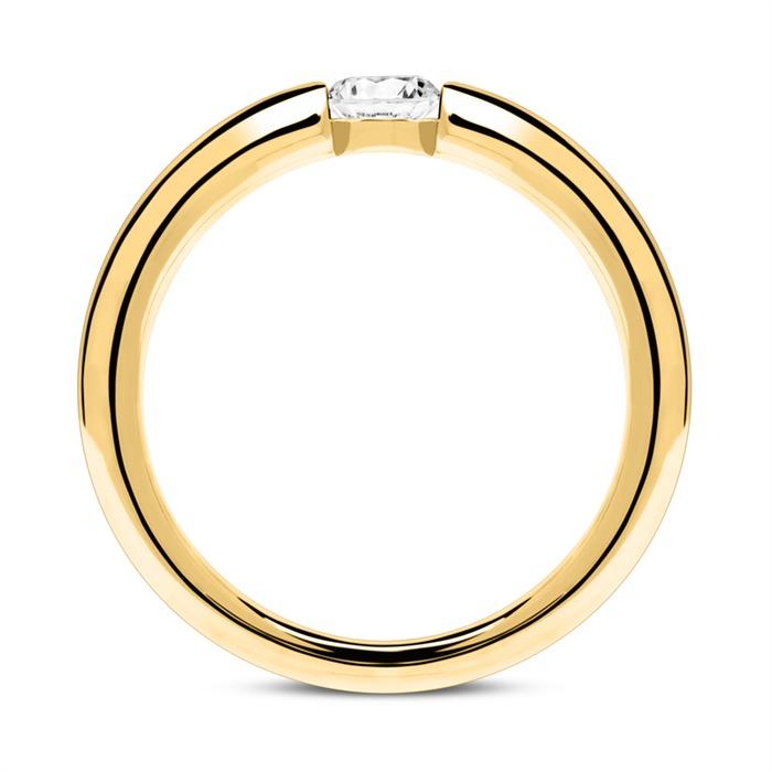 18K Gold Verlobungsring mit Diamant 0,25 ct.