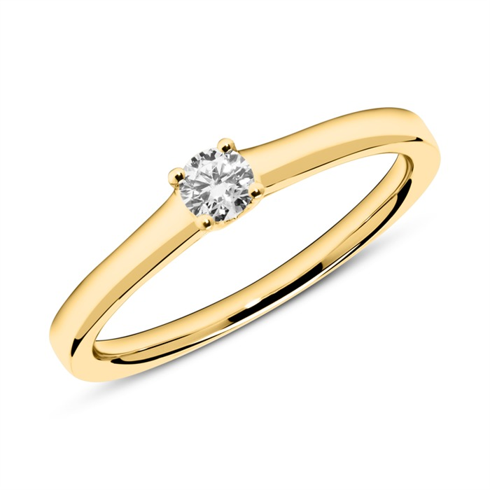 Ring aus 585er Gold mit Diamant 0,15 ct.