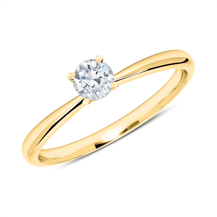 750er Gold Ring mit Diamant 0,25 ct.