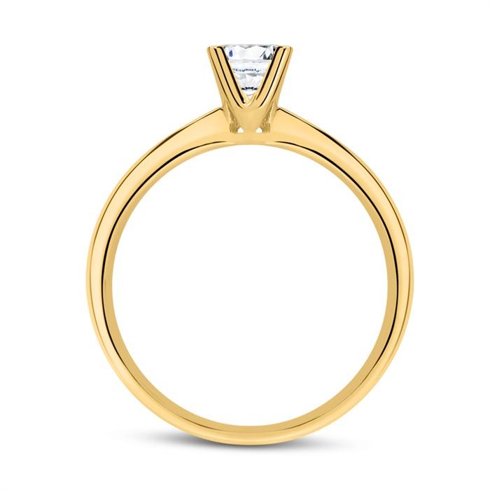 Verlobungsring aus 18K Gold mit Diamant 0,50 ct.