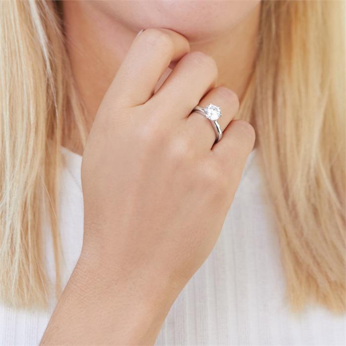 Verlobungsring aus Sterlingsilber mit Zirkoniabesatz