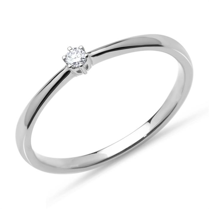 Ring aus 750er Weißgold mit Diamant 0,05 ct.